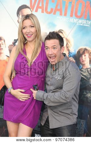 LOS ANGELES - JUL 27:  Lindsay Bronson, David Faustino at the