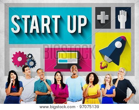 Start Up Launch Growth Success Planning Business Concept
