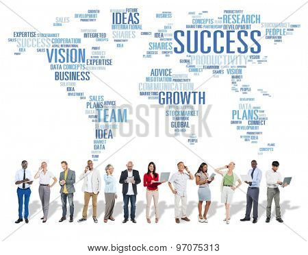 Global Business People Digital Device Technology Success Concept