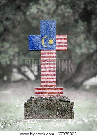 Gravestone In The Cemetery - Malaysia