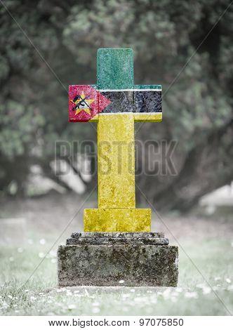 Gravestone In The Cemetery - Mozambique