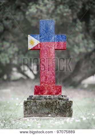 Gravestone In The Cemetery - Philippines