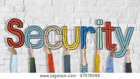 Security Word Concepts Isolated on Background