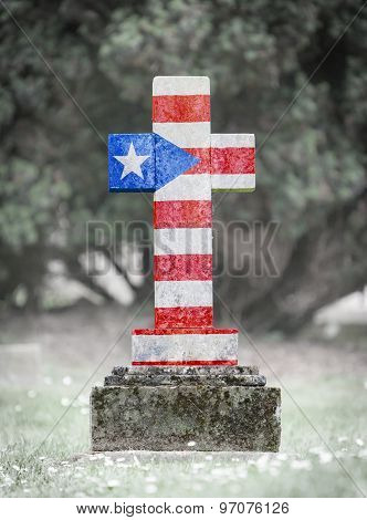 Gravestone In The Cemetery - Puerto Rico
