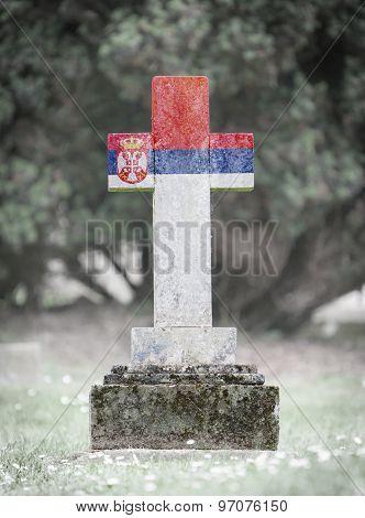 Gravestone In The Cemetery - Serbia