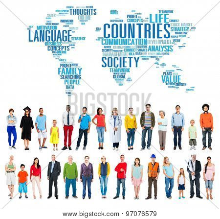 Countries World Map Global People Concept
