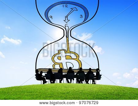 Time Money Investment Countdown Measure Concept