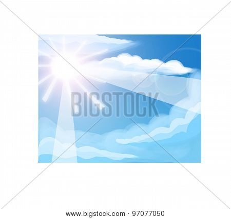 Bright sky illustration