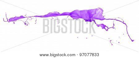 Purple Splash Isolated On White Background35
