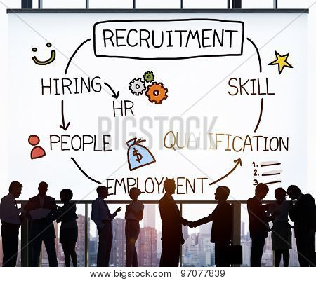 Recruitment Hiring Skill Qualification Job Concept