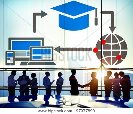 Education Technology Global Online Internet Concept