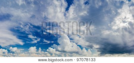 Sky With Cumulonimbus Cloud