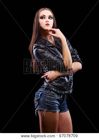 Fashion style portrait of young girl
