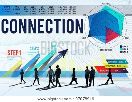 Connection Corporate Support Team Partnership Concept