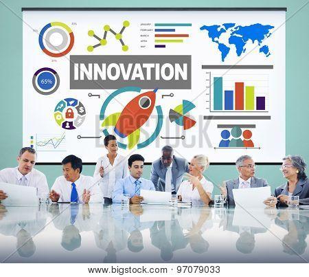 Innovation Idea Creative Aspiration Launch Concept