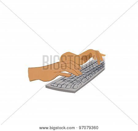 typing hand illustration