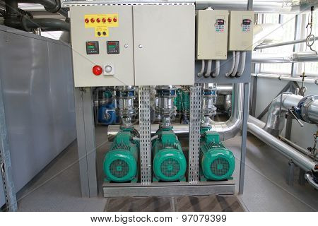 Three Powerful Pumps With A Control Panel