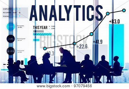 Analytics Data Analysis Strategy Statistic Concept