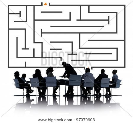 Maze Planning Thinking Strategy Business Concept