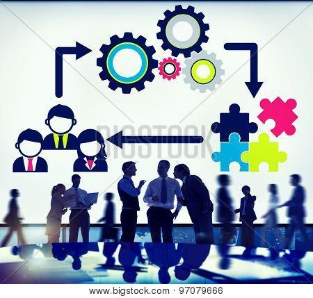 Team Teamwork Collaboration Corporate Concept