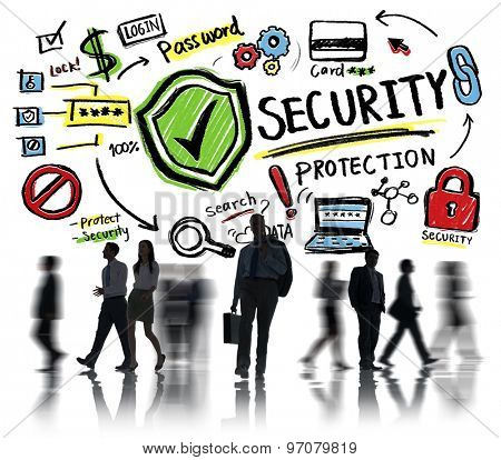 Business Office Worker People Security Protection Concept
