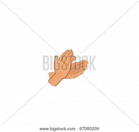 clapping hands illustration