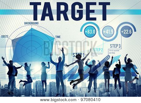Target Achievement Goal Success Aspiration Concept