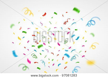 Colorful Confetti Background. Vector