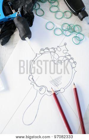 Drawn tattoo
