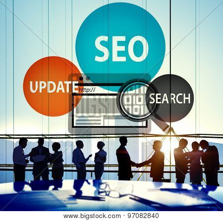 Search Engine Optimisation Update Search Concept