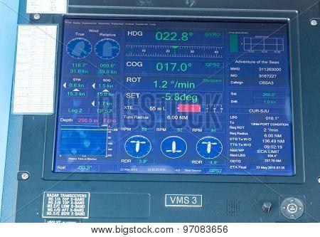 Digital Screen On Cruise Ship Bridge