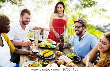 Diverse People Friends Hanging Out Party Concept