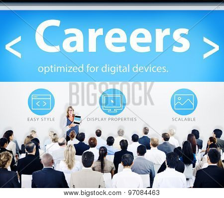 Business People Careers Presentation Concept