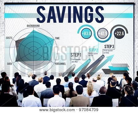 Saving Economy Finance Profit Banking Concept