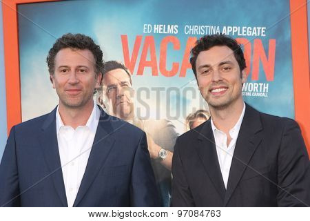 LOS ANGELES - JUL 27:  Jonathan Goldstein, John Francis Daley at the