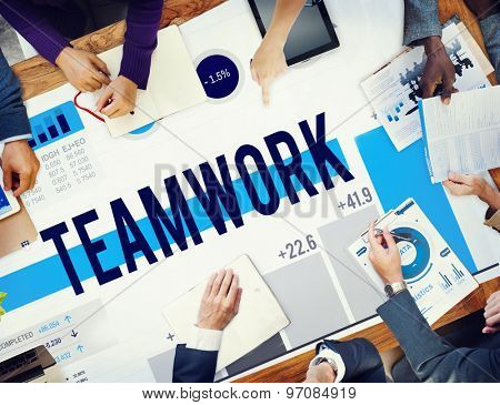 Teamwork Corporate Collaboration Connection Partnership Concept