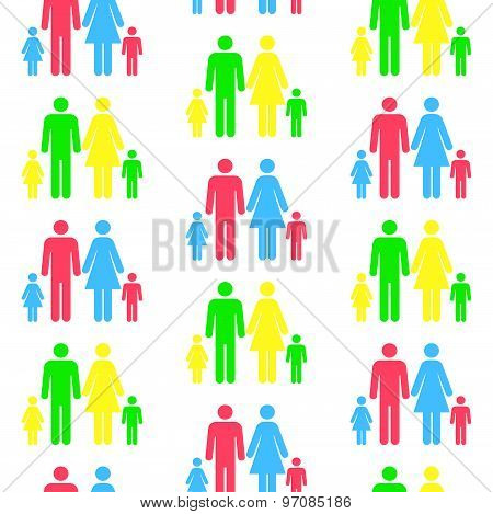 Seamless Pattern With Silhouettes Of The Person