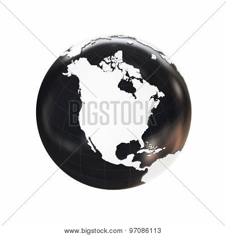 Globe 3D Geopolitical Extruded