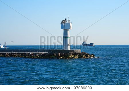 Sea Landscape With Lighthouse