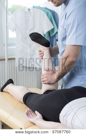 Physiotherapist Doing Functional Massage