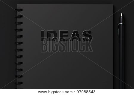 Black Notebook For Recording Ideas