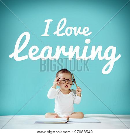 Learning, New Born And Blackboard With