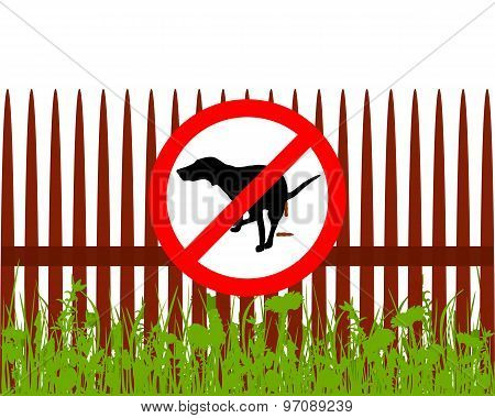 Prohibition Sign Dog Crapping