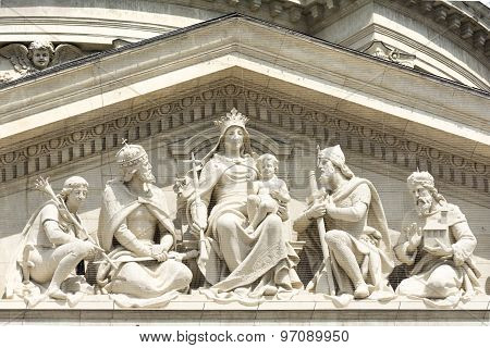 Detail From St. Stephen's Basilica, Budapest, Hungary