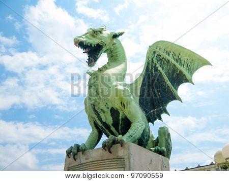 Dragon on a bridge in Ljubljana