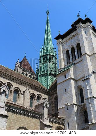 St Pierre Cathedral In Geneva