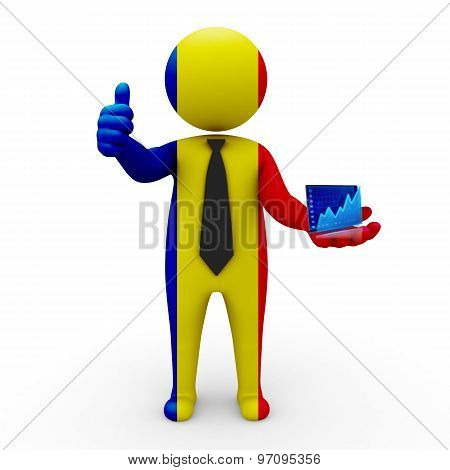 3d businessman people Romania - Stock Exchange of Romania