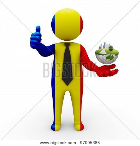 3d businessman people  Romania - Environment and construction Romania