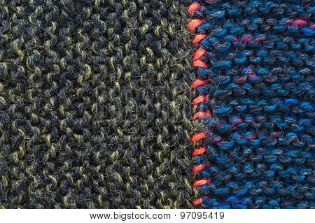 Close Up Of Woolen Texture - Textile Background
