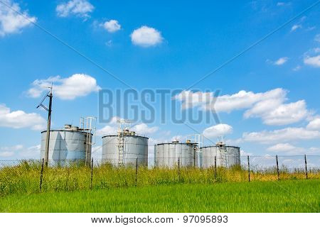 Silos On The Field